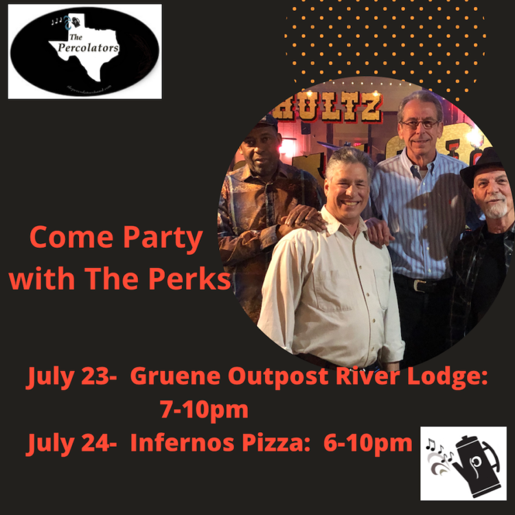 It's another party weekend in Gruene-Come join us and hear all your favorite songs!!!